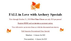 Archery Fall Special